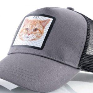 כובע חיות חתול אפור