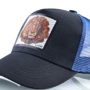 כובע החיות דגם האריה הכחול