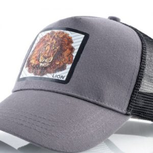 כובע החיות אריה אפור