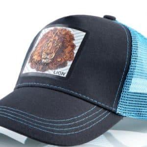 כובע החיות דגם האריה התכלת