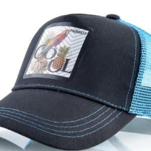 קולקצית כובעי החיות - כובע התוכי בצבע תכלת