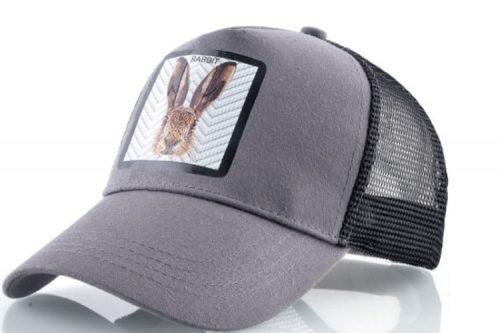 כובעים יפים עם חיות כובע הארנב האפור