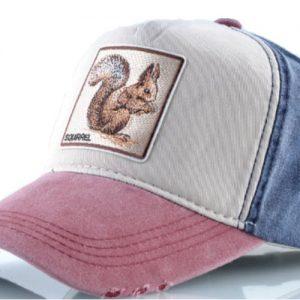 הכובעים עם החיות - כובע סנאי אדום