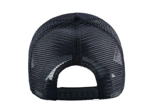 כובע סוס דוהר שחור מאחור