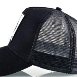 כובע דוב פנדה שחור מבט מהצד