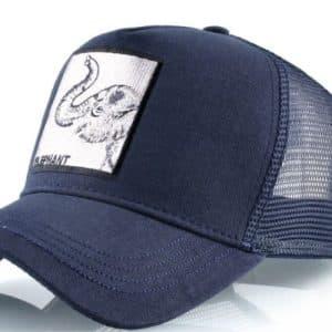 כובע עם ריקמה חיות הפיל הכחול