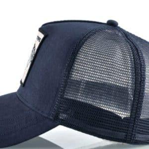 כובע סוס דוהר כחול צד