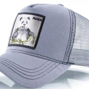 כובע חיות דוב הפנדה האפור