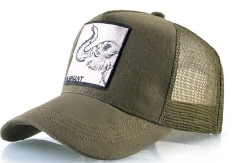כובע חיות הפיל הירוק