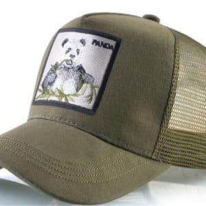 כובע דוב פנדה ירוק