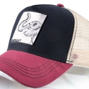 כובע חיות הפיל אדום שחור