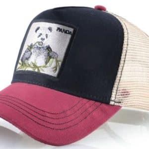 כובע דוב הפנדה אדום שחור