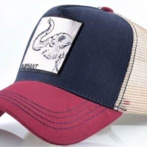 כובע חיות הפיל אדום כחול