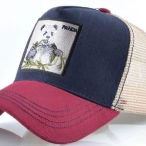 כובע דוב הפנדה אדום כחול
