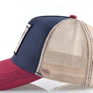 כובע אדום כחול מבט מהצד